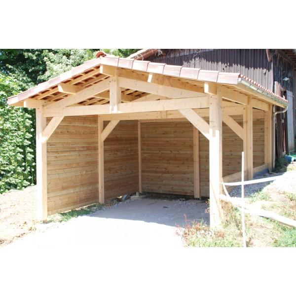 abri de jardin en bois pour v hicules et mat riel. Black Bedroom Furniture Sets. Home Design Ideas