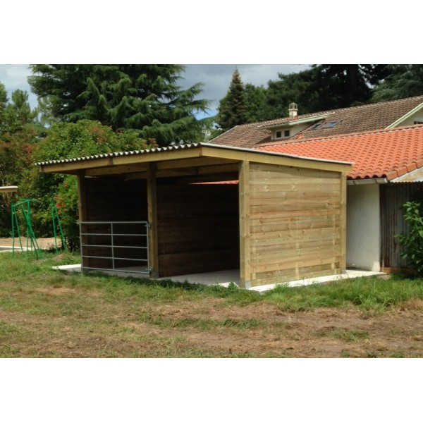 abri 3x6 avec s paration centrale et 1 barri re 3m www. Black Bedroom Furniture Sets. Home Design Ideas